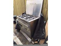 Stainless steel Range Cooker with Hood (Tecnik)