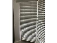 White wooden venetian blinds