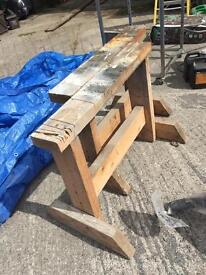 Wooden Trestle/Sawhorse