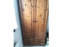 Two wooden Wardrobes for sale