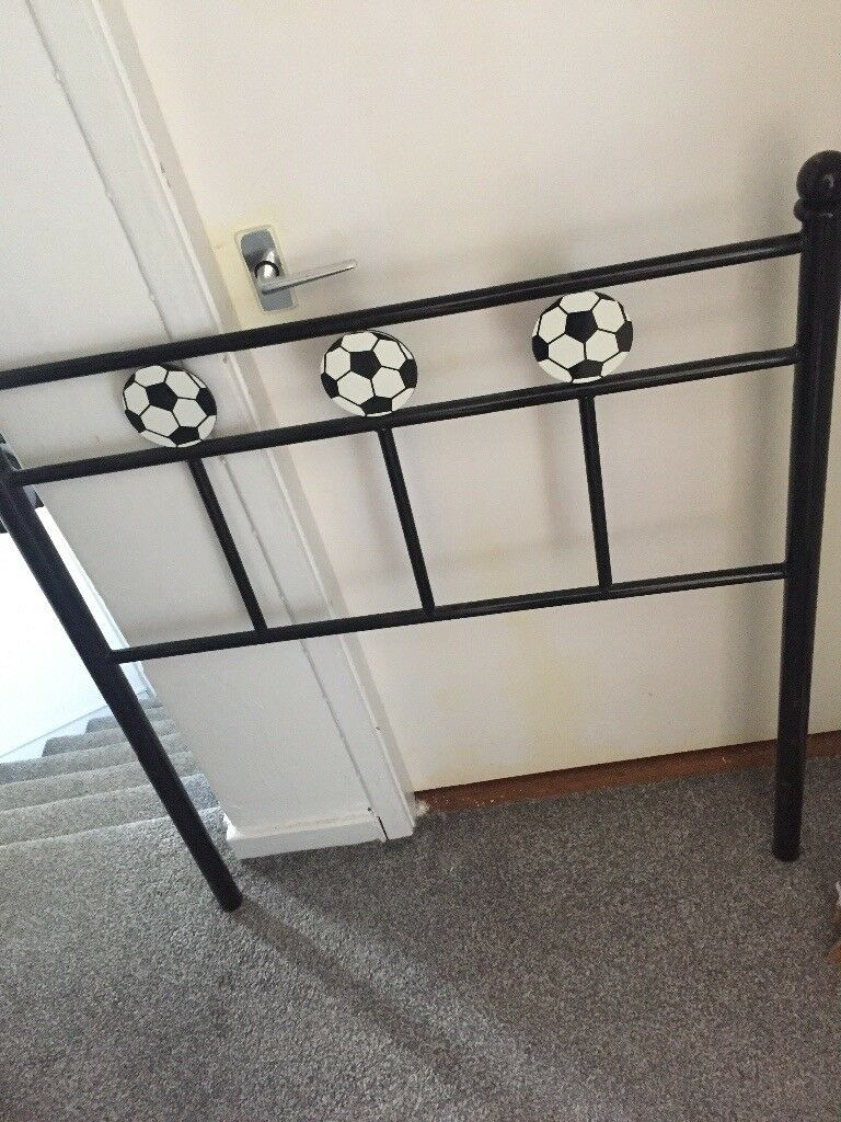 Black Football Single Bed Frame