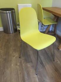 Citrine Kitchen Chairs (John Lewis) unused X 2