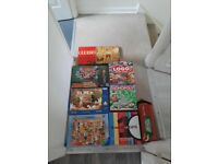 Board games and jigsaws including vintage cluedo game.