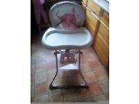 Graco girls pink highchair