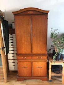Solid Mahogany Computer Cabinet