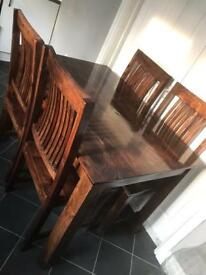 SOLD — Dining room table and 4 chairs