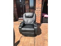 Leather heated. massage chairs