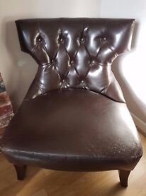 QUICK SALE NEEDED! Boutique Real Leather Chair