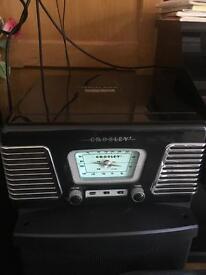 Retro style vinyl record player