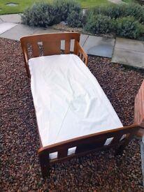 John Lewis Boris Toddler Bed, In Pine, Includes Mattress