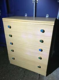Modern chest 5 drawers FREE DELIVERY PLYMOUTH AREA