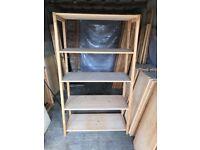 Fully Adjustable Wooden Shelving/Racking