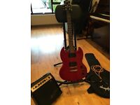 Epiphone SG - Cherry Red - Special SG Model - includes mini amplifier