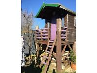 FREE -COLLECTOR TO DISMANTLE - WOODEN PLAYHOUSE TREEHOUSE