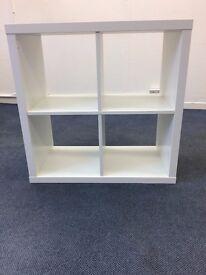 3 White storage cube bookcase