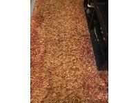 Burnt orange rug