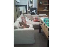Corner sofa 2m x 2m beige - good condition
