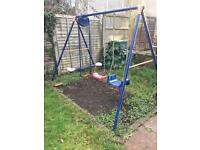 Children's swing and see-saw play-set