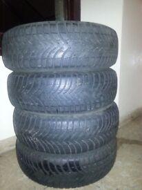 winter tyres (Michelin alpine a4 winter tyres (195/65r15)
