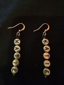 Personalised Earrings (Any Name) Gold