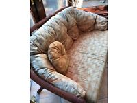 Wicker sofa with 1 matching chair