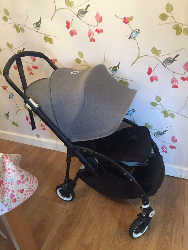 bugaboo bee plus all black with bee3 grey melange hood. Black Bedroom Furniture Sets. Home Design Ideas