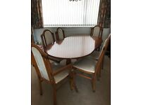 Extending Dining Table And 6 Chairs Immaculate Condition
