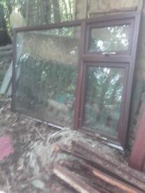 Double Glazed Window (Mahogany)