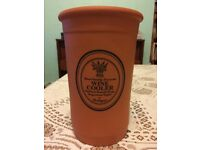 Terracotta Wine Cooler made in Portugal approx 19.5cm