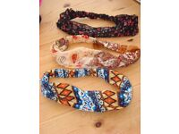 3 Elasticated Alice type bands. With glitter embellishment. Never worn. £6. Can post or collect from