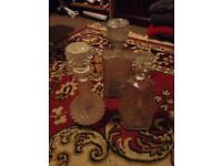 3 x Crystal Glass Decanters