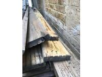 Used decking boards