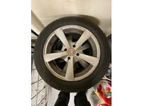 4x alloys with snow tyres 15 inch