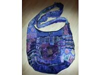 Purple Guatemalan handmade bag