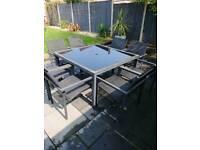 8 seater garden table