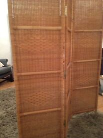 Habitat cane room divider screen x2