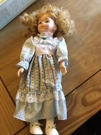 Boxed porcelain doll