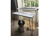 Lovely contemporary white wood desk for home working / dressing table