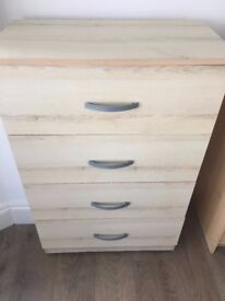 chest of draws and bed side cabinet £35