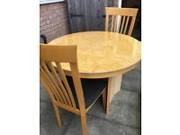 Dining room furniture table chairs and sideboard