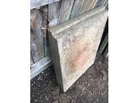 Free Heavy garden slabs