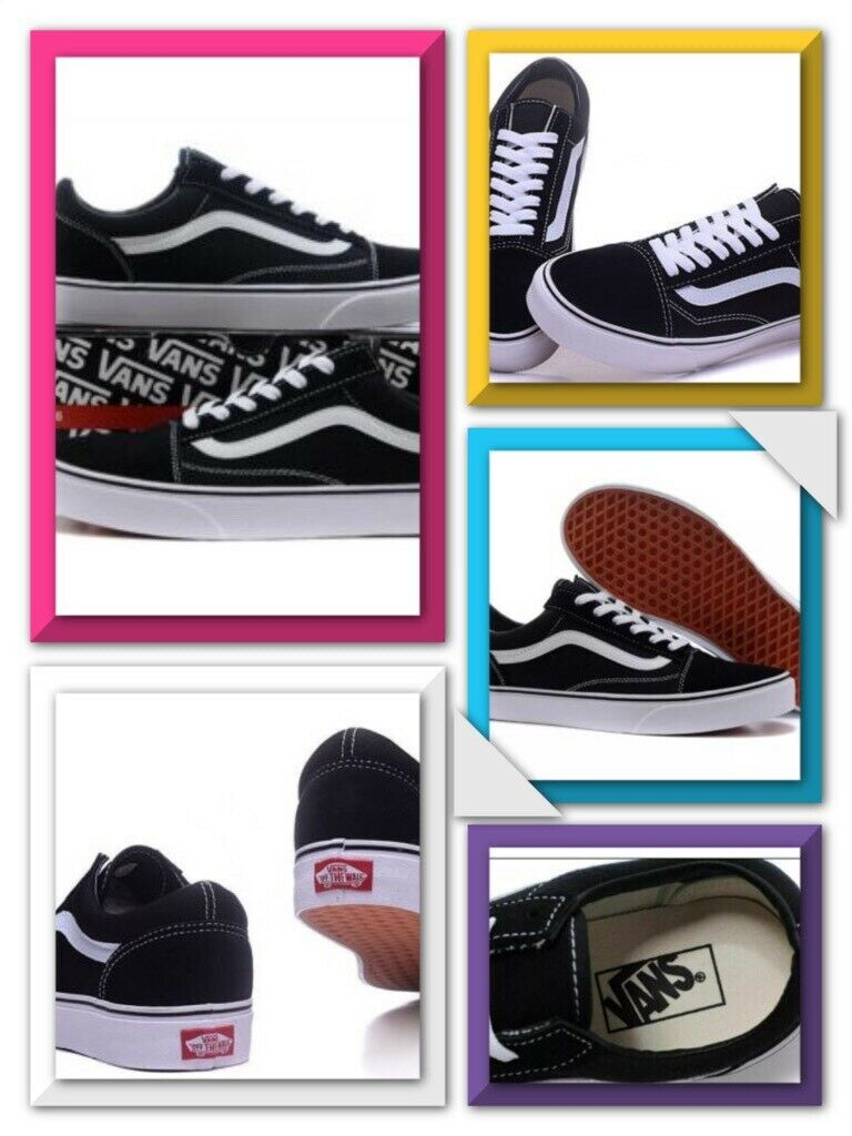 3f0aef634df43 NEW VANS OLD SKOOL SKATE SHOES BLACK/WHITE ALL SIZE CLASSIC CANVAS SNEAKERS  | in Clacton-on-Sea, Essex | Gumtree