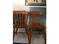 2 x Wooden chairs , feel free to view buyer to collect