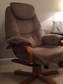 Swivel Chair & Footrest