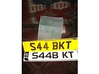 Private Number Plate - S44 BKT