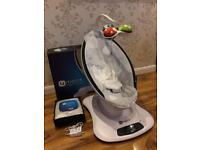 4 moms mamaroo silver plush with spare cover