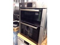 BOSCH Avantixx HBN43B250B Electric Built-under Double Oven - Brushed Steel, 50L