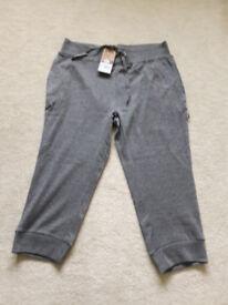 BNWT grey 3/4 length jersey trousers ONO