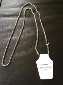 Ladies or gents stainless steel chain necklace new