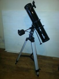 Skywatcher astronomical telescope with tripod + lenses